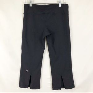 Lululemon Tadasana Slit Black Crop Leggings Size 8